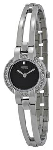 Citizen Silhouette Eco-Drive Black Dial Stainless Steel Bangle Ladies Watch