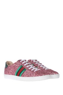 Gucci Sneakers Pink Glitter Athletic