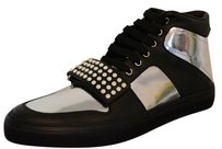 Gucci Sneakers Sneakers Mens Hitop Sneakers Black / Silver Athletic