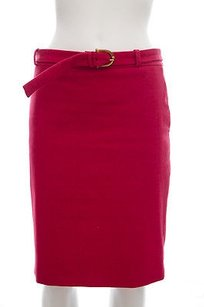 Gucci Raspberry Stretch Skirt Red
