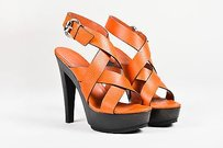 Gucci Black Beige Orange Sandals