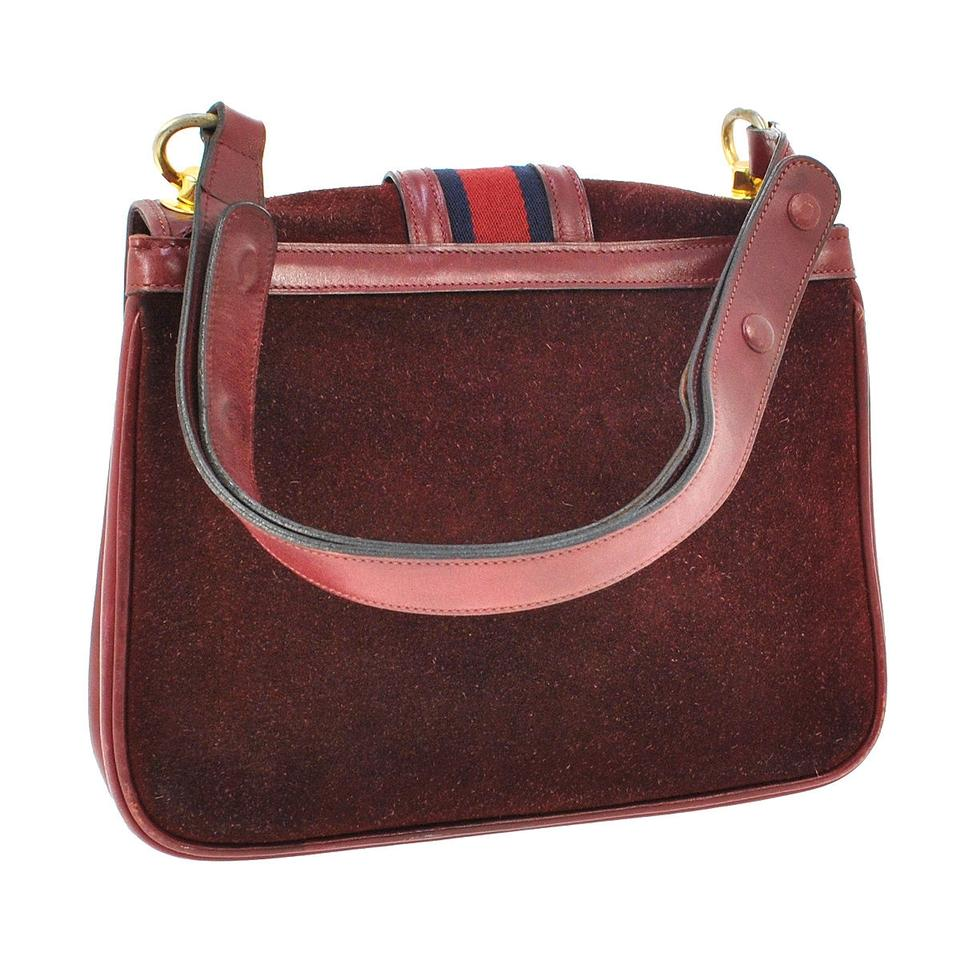 Burgundy Suede Shoulder Bag 40