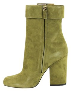 Gucci Suede Olive Green Boots