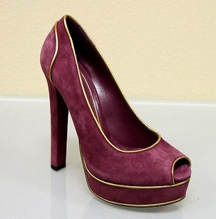 Gucci Suede Platform Purple Platforms
