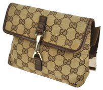 Gucci Vintage Gg Pattern Canvas Cross Body Bag