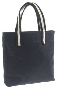 Gucci Vintage Gg Pattern Tote in Navy