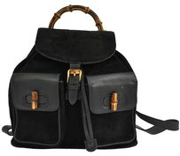 Gucci Vintage Suede Leather Backpack