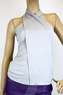 Gucci Halter Wbamboo Buckle Gray Halter Top