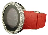 Gucci White Diamond I Gucci Digital Diamond Watch 12.58 Ct