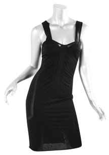 Gucci Womens Lbd Sleeveless Sheer Slip Wiggle Dress
