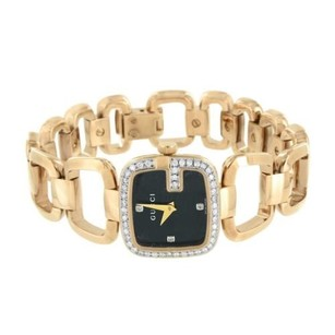 Gucci Womens Gucci Ya125512 Watch Rose Gold Over Stainless Steel Diamond Bezel Dial