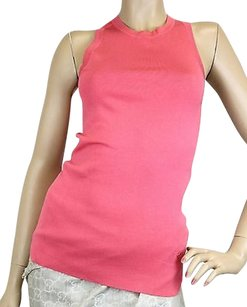 Gucci Womens Halter Sweater Top Pink