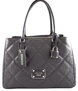 Guess Piano Grey Carryall Tote in Gray