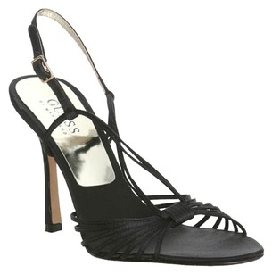 Guess By Marciano Satin Formal Black Sandals