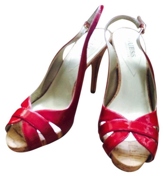Guess Red Sandals Size US 6.5 Regular (M, B)