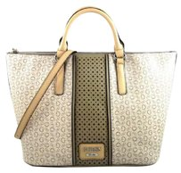 Guess Arvin Khaki Satchel in Brown