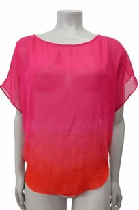 Guess Short Sleeve Taylor Dip Top Rose ombre