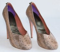 Guillaume Hinfray Tan Beige Platforms