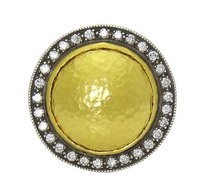GURHAN Gurhan 24k Hammered Gold And Diamond Dome Ring R418