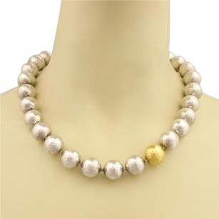 GURHAN Gurhan Dome 24k Gold Sterling Silver Hammered 15mm Balls Necklace