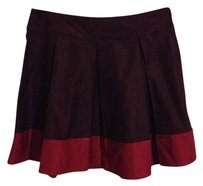 H&M Color-blocking Skirt Colorblock Purple Magenta Pleated Full Skirt