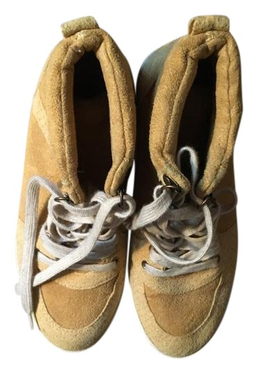 h m golden high tops golden yellow athletic shoes on tradesy