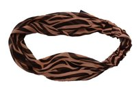 H&M Hm Womens Brown Headband Abstract Animal Print Head Wrap