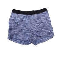 H&M Short Preppy Dress Shorts BLUE BLACK TWEED BOUCLE