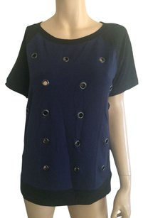 Halogen T Shirt Black Navy Blue