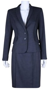 Halogen Halogen Womens Gray Skirt Suit 62 Textured Above Knee Long Sleeve