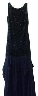 Halston Stunning Scoop Back Sequined Dress