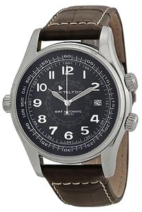 Hamilton Hamilton Khaki Navi Utc Automatic Leather Mens Watch H77505535