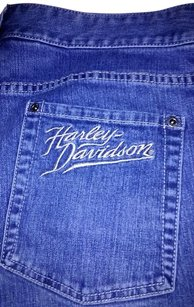Harley Davidson Casual Capri Capri/Cropped Denim-Light Wash