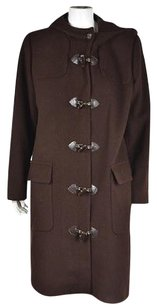 Harvé Benard Womens Textured Basic Wool Long Sleeve Jacket Coat