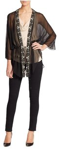 Haute Hippie Sheer Silk Cover Up Cardigan