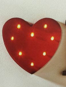 Heart Marquee Lighted Letters Sign Red Heart