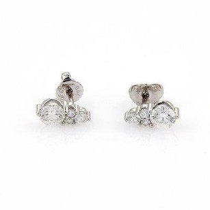 Hearts on Fire Hearts On Fire Triplicity 0.79ct Diamond Stud Earrings In 18k White Gold