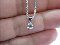 Hearts on Fire Hearts,On,Fire,Round,Diamond,Solitaire,3-prong,Pendant,Necklace,.33ct,H-vs2,18