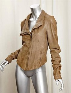 Helmut Lang Leather Zip Brown Jacket