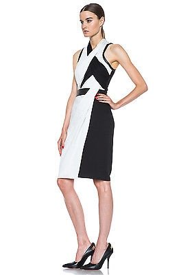 Helmut lang black dress with leather trim