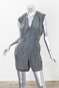 Helmut Lang Silky Pleated Sleeveless Shorts Playsuit Dress