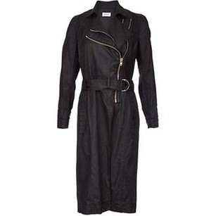 Helmut Lang Distressed Resin Trench Coat