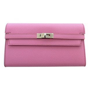 Hermès Hermes Bubblegum 5P Pink Epsom Kelly Wallet Clutch T Stamp Grail