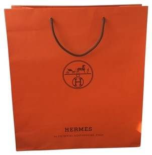 Hermès ( 4 ) Authentic Hermes Orange Gift XL Shopping Tote bags For Birkin