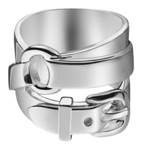 Herms Below $1023 Retail Hermes Debridee Solid Silver Ring GM Size 54 or 6.5 BNIB