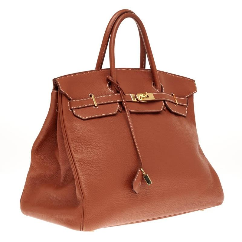 9425a804ceb1 ... ireland hermès birkin etrusque clemence with gold hardware 40 brown leather  tote tradesy d6a10 498d0