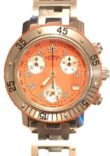 Hermès CL2.316 Clipper Diver Chronograph Stainless Steel Watch