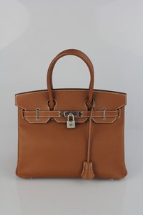 Hermès Epsom Leather 30 Satchel in Brown