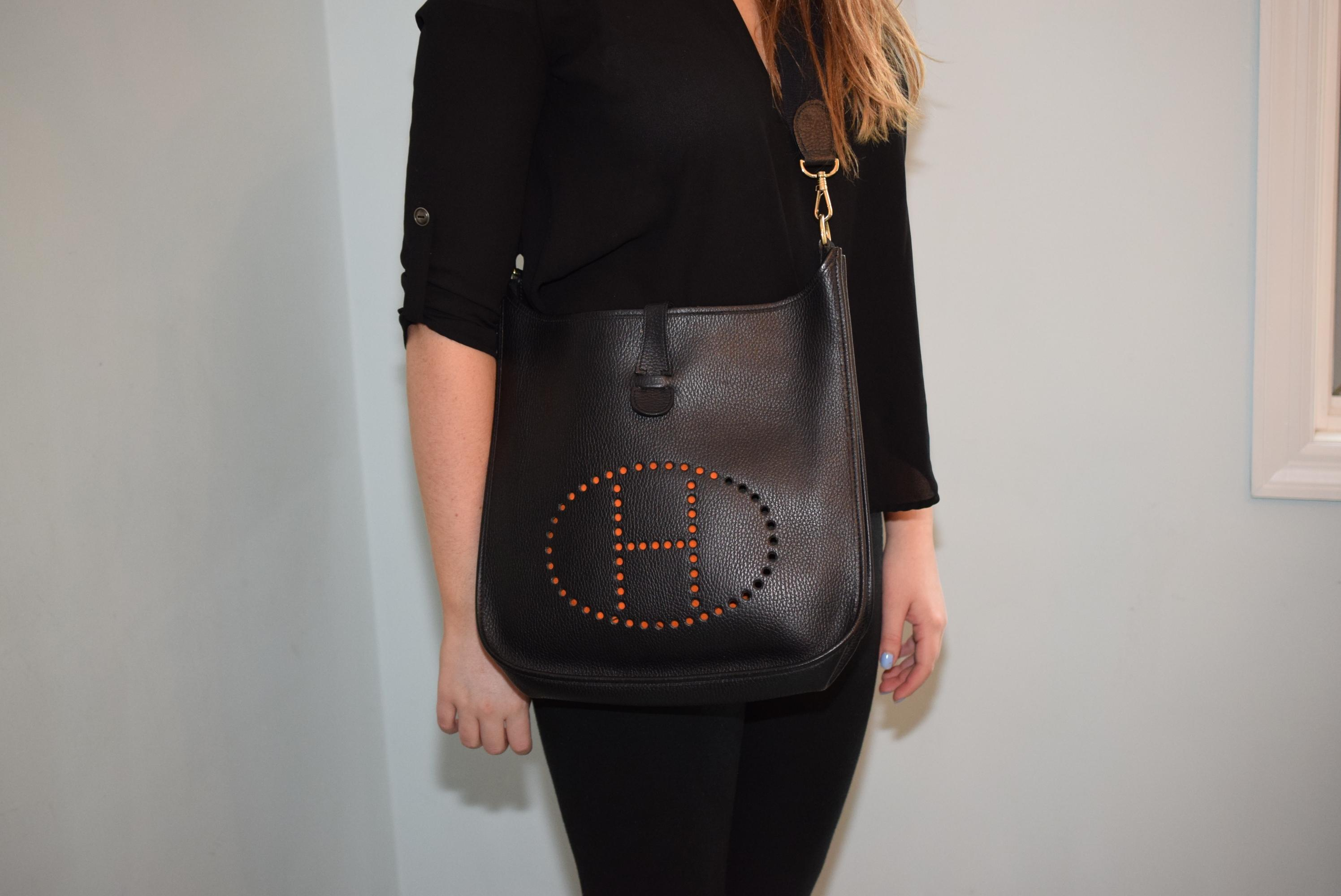 d252828759 ... coupon for hermès evelyne gm black leather clemence cross body bag  tradesy 6013d 0c21e ...