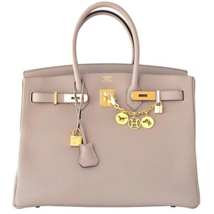 Herms Gris Tourterelle Satchel in Gray